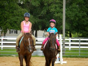 Riding english at horse camp
